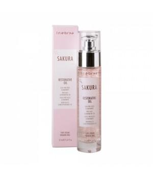 Масло для восстановления и блеска волос Inebrya Sakura Restorative Oil