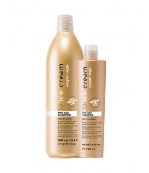 Антивозрастной шампунь с аргановым маслом Inebrya Ice Cream Pro-Age Shampoo